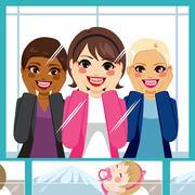 Women Maternity Hospital Stock Illustration