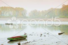Autumnal pond, Czech Republic Stock Photos