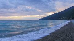 Timelapse sunset on the Black sea. Gagra, Abkhazia. Full HD Stock Footage