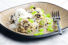 Mushroom rissoto Stock Photos