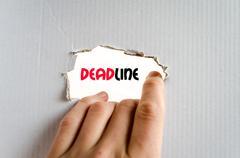 Deadline text concept Kuvituskuvat