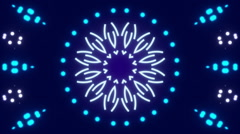 Blue abstract background, kaleidoscope shapes and particles, loop Stock Footage