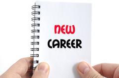 New career text concept Stock Photos