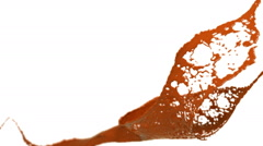 Orange splash in the air. slow motion and DOF. Paint Stock Footage
