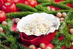 Traditional Czech Christmas potato salad Stock Photos