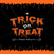 Happy Halloween, trick or treat banner background Stock Illustration