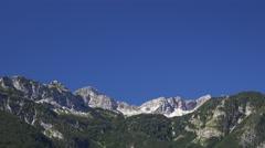 Julian Alps over Bohinj lake in Slovenia Stock Footage