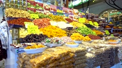 Choice of dry fruits and nuts Stock Footage