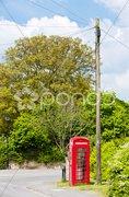 Telephone booth, Reach, England Stock Photos