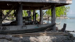 SOLOMON ISLANDS VILLAGE SCENE Stock Footage