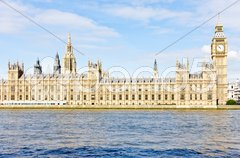 Houses of Parliament and Big Ben, London, Great Britain Stock Photos