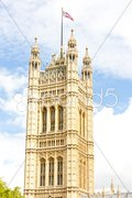 Victoria Tower, Westminster Palace, London, Great Britain Stock Photos