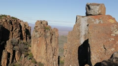 In south africa valley of desolation Stock Footage