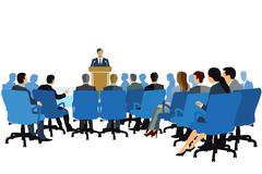 Lecture, Consulting, Event Stock Illustration