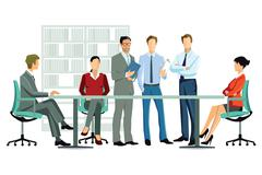 Discuss office employees counted Stock Illustration