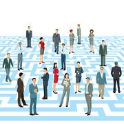 Business maze, labyrinth Stock Illustration