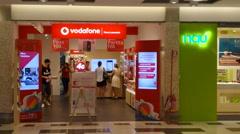 Vodafone Shop Stock Footage