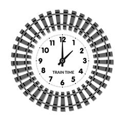 Railway clocks vector illustration Stock Illustration