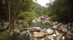 Rocky river and waterfall near Nha Trang, Vietnam. Footage UHD Stock Footage