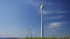 Windmill for electric power production Stock Footage