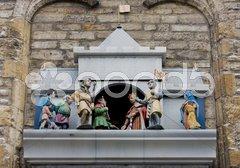 Town hall''s detail, Gouda, Netherlands Stock Photos