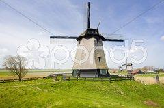 Windmills near Alkmaar, Netherlands Stock Photos