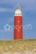 Lighthouse, De Cocksdorp, Texel Island, Netherlands Stock Photos
