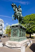 Equestrian statue in front of Paleis Noordeinde, The Hague, Netherlands Stock Photos