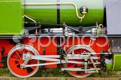 Steam locomotive''s detail, Hoorn - Medemblik, Noord Holland, Netherlands Kuvituskuvat
