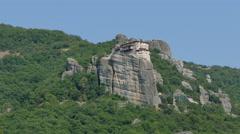 Holy Monastery Roussano, Meteora, Greece Stock Footage