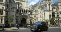 The Law Courts on The Strand, London, UK Stock Footage