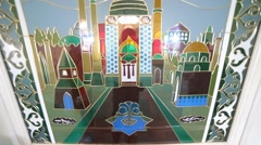 Window in The Mosque Stock Footage