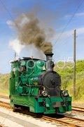 Steam tram, RTM, Ouddorp, Netherlands Stock Photos
