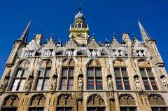 Town hall, Veere, Zeeland, Netherlands Stock Photos