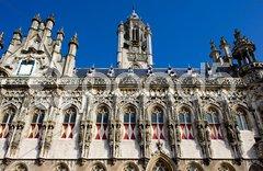 Town hall, Middelburg, Zeeland, Netherlands Stock Photos