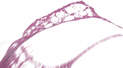 Close-up view of pink color splashing. Water. Stock Footage