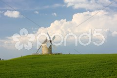 Windmill, Moidrey, Brittany, France Stock Photos
