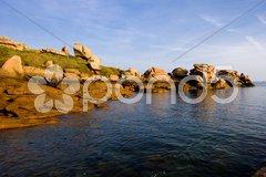 Coast, Ploumanac''h, Brittany, France Stock Photos