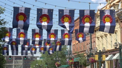 Larimer Square Denver Traffic Stock Footage