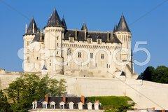 Chateau de Saumur, Pays-de-la-Loire, France Stock Photos