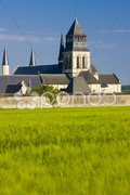 Fontevraud Abbey, Loire Valley, France Stock Photos