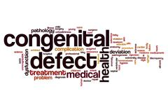 Congenital defect word cloud Stock Illustration