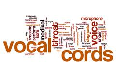 Vocal cords word cloud Stock Illustration