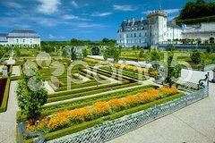 Villandry Castle with garden, Indre-et-Loire, Centre, France Stock Photos