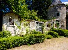 Courtyard of Cinq-Mars-la-Pile Castle, Indre-et-Loire, Centre, France Kuvituskuvat