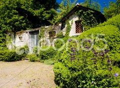 Courtyard of Cinq-Mars-la-Pile Castle, Indre-et-Loire, Centre, France Stock Photos