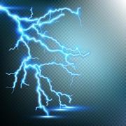 Thunder-storm and lightnings. EPS 10 Piirros