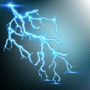 Thunder-storm and lightnings. EPS 10 Stock Illustration