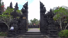 4k Holy bat temple entry portal Goa Lawah sculptures Bali Stock Footage