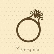 Wedding Ring with Diamond Stock Illustration